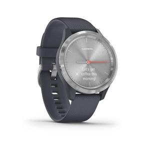 Garmin Vivomove 3S Sport zilver met blauwe siliconen band