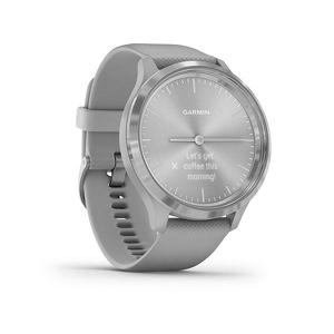 Garmin Vivomove 3 Sport zilver met grijze siliconen band