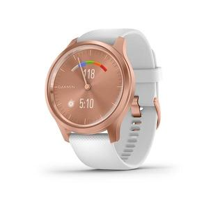 Garmin Vivomove Style Rose Gold met witte siliconen band