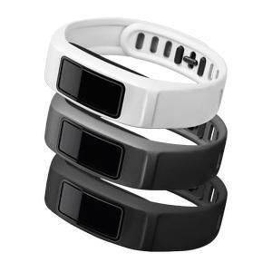 Polsbanden Vivofit 2 zwart, grijs en wit