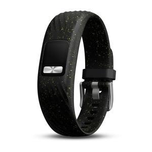Polsband Vivofit 4 zwart gespikkeld small-medium