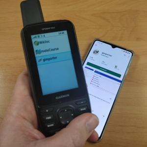 GPX bestanden van mobiel naar handheld